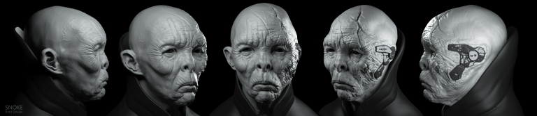 Snoke clay render
